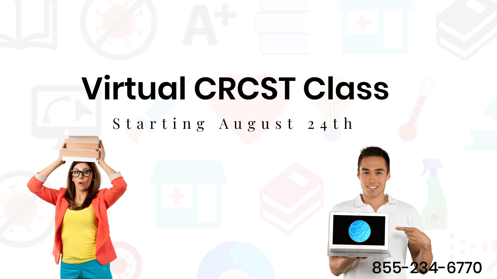 August 24th Virtual Class Front Page Banner