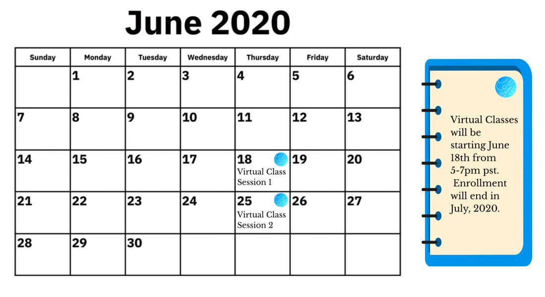 Calendar imagine for June classes