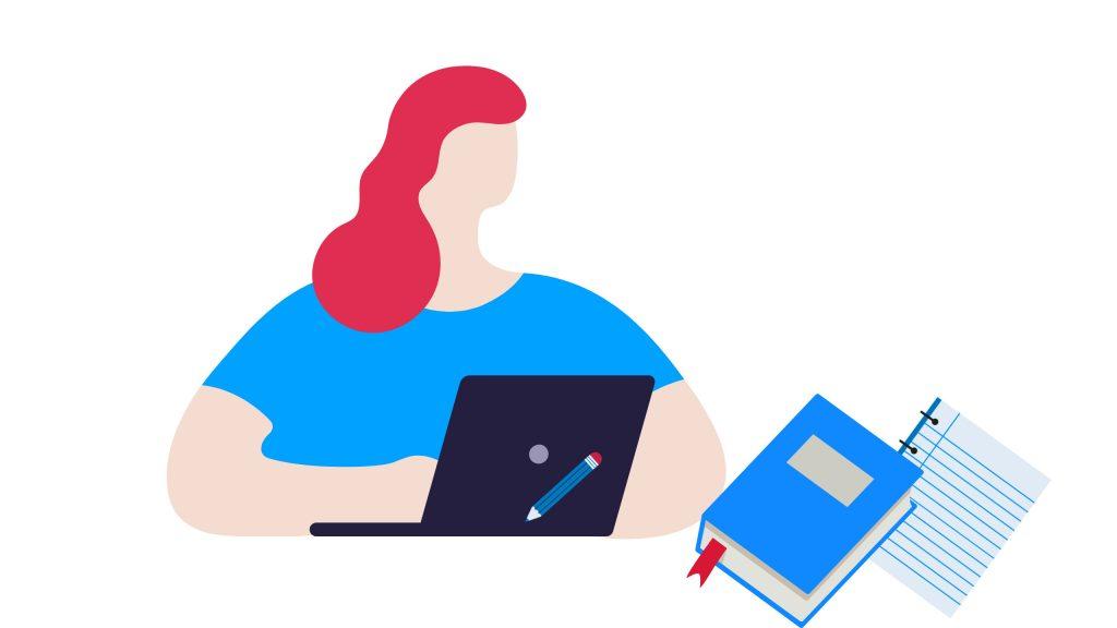 Illustration of student