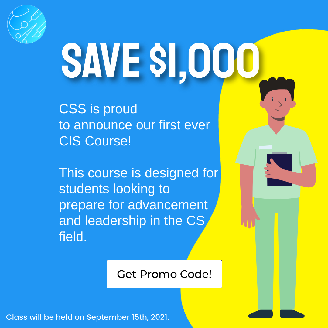 Save $1,000 off new CIS Course